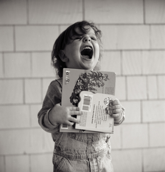 Elliot Book Happy