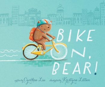 One bear, one bike, and a whole lot of determination.