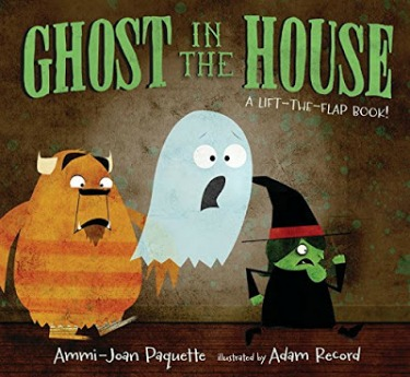 A not-too-spooky ghost story, with interactive lift the flaps to reveal his pals.