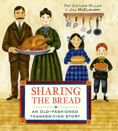 A picture book that shows how a 19th-century American family prepared for Thanksgiving