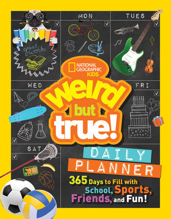 A daily planner with fun facts to keep kids engaged in learning